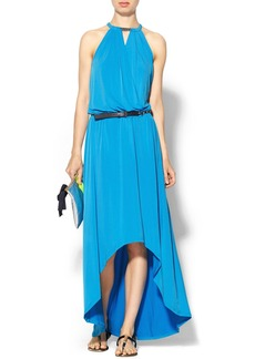 MICHAEL Michael Kors Halter Tulip Hem Dress