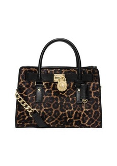 MICHAEL Michael Kors Hamilton Cheetah-Print Calf Hair Satchel Bag  Hamilton Cheetah-Print Calf Hair Satchel Bag