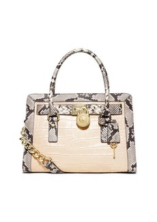 MICHAEL Michael Kors Hamilton Framed Embossed Satchel Bag