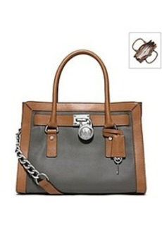 MICHAEL Michael Kors® Hamilton Two-Tone Leather Satchel