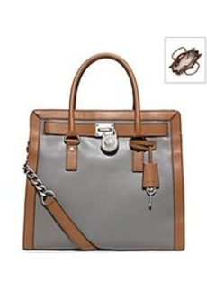 MICHAEL Michael Kors® Hamilton Two-Tone Leather Tote