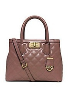 MICHAEL MICHAEL KORS Hannah Quilted Leather Satchel