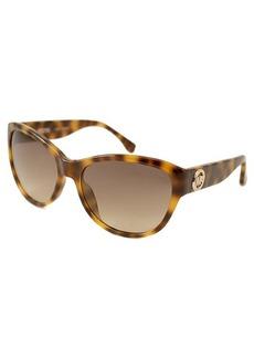 MICHAEL Michael Kors Havana cat-eye oversize plastic sunglasses
