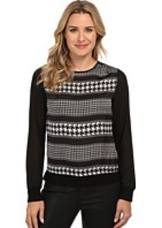 MICHAEL Michael Kors Heiress L/S Knit Trim