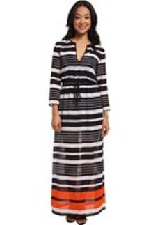 MICHAEL Michael Kors Helsinki Long Sleeve Maxi Dress
