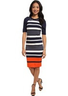 MICHAEL Michael Kors Helsinki Stripe Raglan Dress