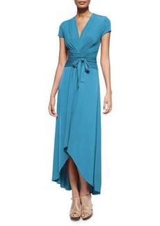 MICHAEL Michael Kors High-Low Wrap Jersey Dress