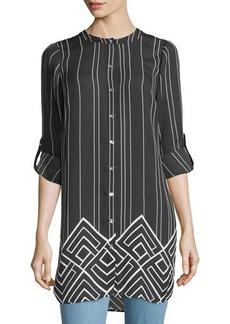 MICHAEL Michael Kors High-Slit Printed Tunic