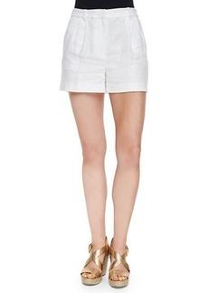 MICHAEL Michael Kors High-Waist Linen Shorts
