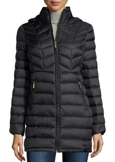MICHAEL Michael Kors Hooded Packable Quilted Anorak