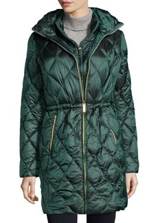 MICHAEL Michael Kors Hooded Packable Quilted Anorak w/ Bib