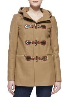 MICHAEL Michael Kors Hooded Toggle-Front Coat