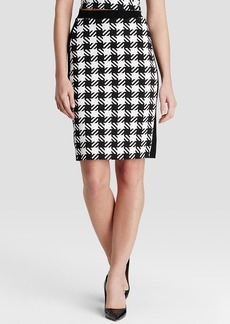 MICHAEL Michael Kors Houndstooth Check Pencil Skirt
