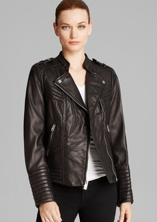 MICHAEL Michael Kors Jacket - Asymmetric Moto Leather