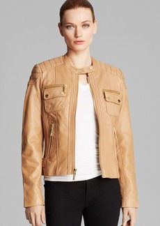 MICHAEL Michael Kors Jacket - Zip Front Leather