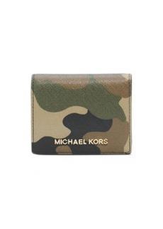 MICHAEL Michael Kors Jet Set Camo Travel Flap Card Holder