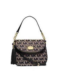 MICHAEL Michael Kors Jet Set Convertible Shoulder Bag with Tassel, Beige/Black