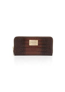 MICHAEL Michael Kors Jet Set Crocodile-Embossed Continental Wallet