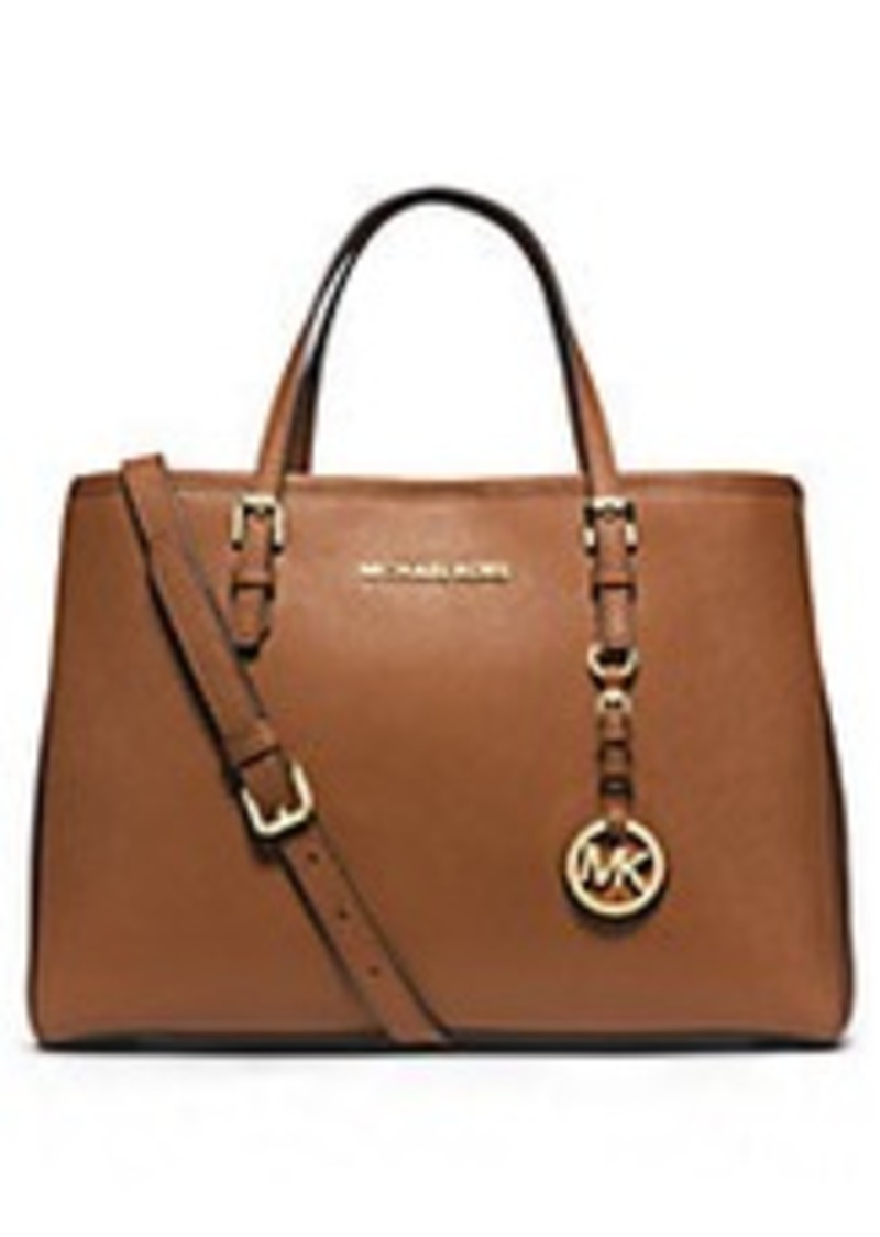 michael michael kors michael michael kors jet set leather medium travel tote sizes all sizes. Black Bedroom Furniture Sets. Home Design Ideas