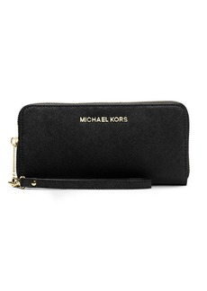 MICHAEL MICHAEL KORS Jet Set Leather Multi Function Travel Phone Case