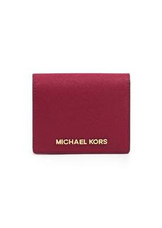 MICHAEL MICHAEL KORS Jet Set Leather Travel Flap Card Holder