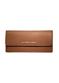MICHAEL MICHAEL KORS Jet Set Leather Travel Flat Wallet