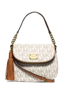 MICHAEL Michael Kors Jet Set Medium Convertible Shoulder Bag with Tassel, Vanilla