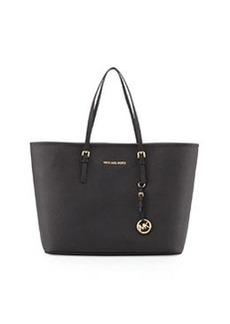 MICHAEL Michael Kors Jet Set Medium Saffiano Travel Tote Bag, Black