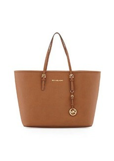 MICHAEL Michael Kors Jet Set Medium Saffiano Travel Tote Bag, Luggage