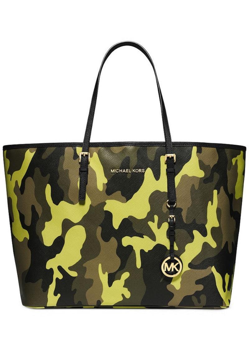michael michael kors michael michael kors jet set medium travel tote handbags shop it to me. Black Bedroom Furniture Sets. Home Design Ideas