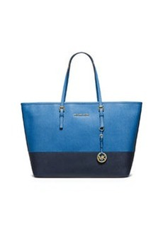 MICHAEL Michael Kors Jet Set Medium Travel Tote Bag, Heritage Blue/Navy