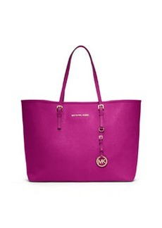 MICHAEL Michael Kors Jet Set Saffiano Travel Tote Bag, Fuchsia