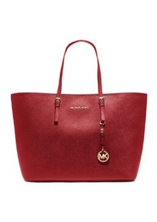 MICHAEL Michael Kors Jet Set Saffiano Travel Tote Bag, Red