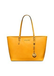 MICHAEL Michael Kors Jet Set Saffiano Travel Tote Bag, Sun