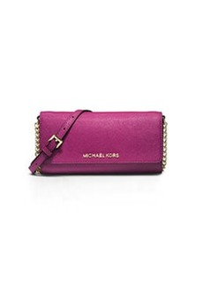 MICHAEL Michael Kors Jet Set Saffiano Travel Wallet-on-Chain, Fuchsia