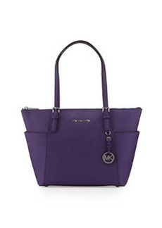 MICHAEL Michael Kors Jet Set Top-Zip Saffiano Tote Bag, Grape