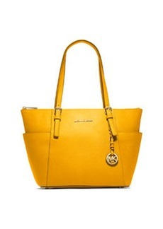 MICHAEL Michael Kors Jet Set Top-Zip Saffiano Tote Bag, Sun