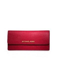 MICHAEL Michael Kors Jet Set Travel Flat Wallet, Chili