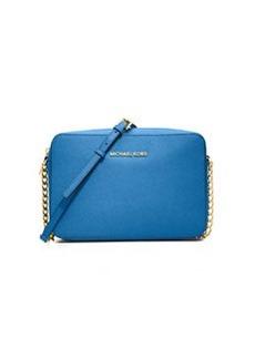 MICHAEL Michael Kors Jet Set Travel Large Saffiano Crossbody Bag, Heritage Blue