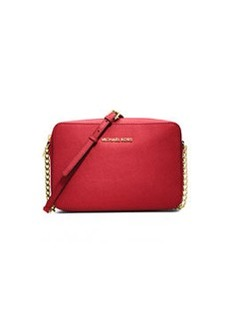 MICHAEL Michael Kors Jet Set Travel Large Saffiano Crossbody Bag, Red