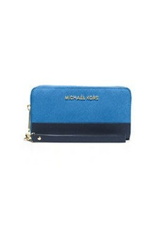 MICHAEL Michael Kors Jet Set Travel Multifunction Phone Case, Heritage Blue/Navy