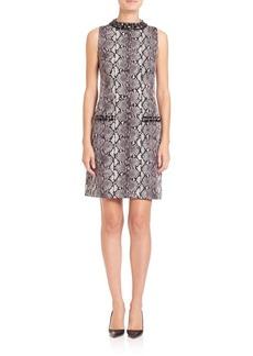 MICHAEL MICHAEL KORS Jeweled Printed Dress