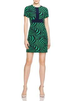 MICHAEL Michael Kors Jubilee Op Art Print Dress