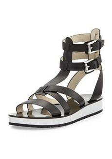 MICHAEL Michael Kors Judie Vachetta Gladiator Sandal, Black