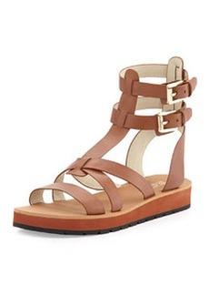MICHAEL Michael Kors Judie Vachetta Gladiator Sandal, Luggage