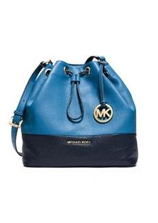MICHAEL Michael Kors Jules Large Drawstring Shoulder Bag, Heritage Blue/Navy