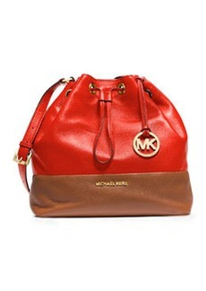 MICHAEL Michael Kors Jules Large Drawstring Shoulder Bag, Mandarin/Luggage