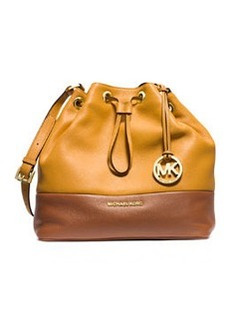 MICHAEL Michael Kors Jules Large Drawstring Shoulder Bag, Sun/Luggage
