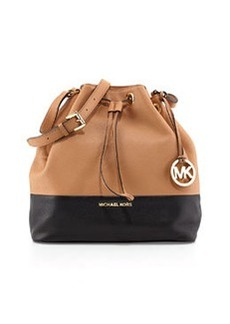 MICHAEL Michael Kors Jules Large Drawstring Shoulder Bag, Suntan/Black