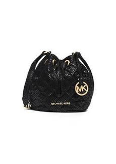MICHAEL Michael Kors Jules Snake-Print Crossbody Bag, Black